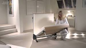 future folding bed with memory plus mattress youtube