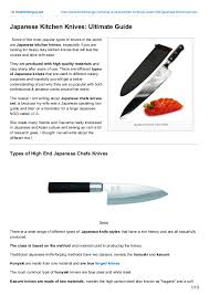what are kitchen knives japanese kitchen knives guide