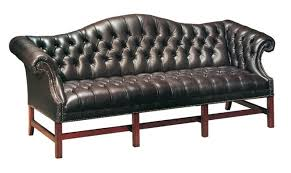 Classic Leather Sofa by Leather Tufted Chippendale Sofa 386