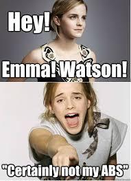 Emma Watson Meme - hey emma watson certainly not my abs emmawatson quickmeme