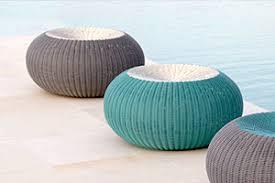 round spinball stool lebello outdoor two tone poufs ottomans