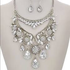 Diamond Chandelier Necklace Gorgeous Silver Rhinestone Chandelier Necklace Os From Charlotte U0027s