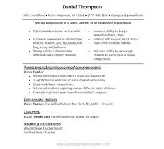 Resume Sample Business Administration by Dance Resume Template Free Resume For Your Job Application