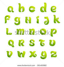 ecology english alphabet letters leaves set stock vector 378733399