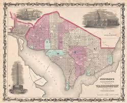 Washington Dc On Map File 1861 Johnson Map Of Washington D C And Georgetown