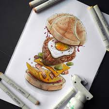 cuisine valentin artstation blast burger 3 rse of the egg tino valentin