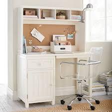 White Desk With Hutch Beadboard Space Saving Desk Hutch Pbteen