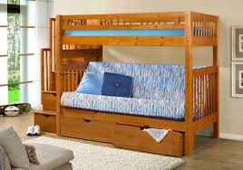 Bunk Bed Futons Traditional Style Bedroom With Stairway Futon Bunk Beds And