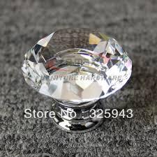 Glass Kitchen Cabinet Pulls Aliexpress Com Buy 5pcs 30mm Zinc Alloy Clear Glass Crystal