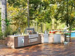Patio Kitchen Islands Paved Patio Design With Outside Kitchen Island Using Top