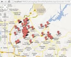map with labels marker with labels in map asp c mvc