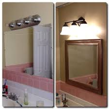 how to update an old bathroom lighting paint u0026 mirror snapguide