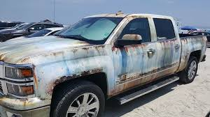 rusty pickup truck new chevy silverado gets rusty wrap autoevolution