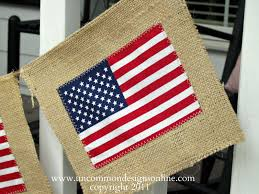 Is Today Flag Day Burlap Flag Banner U2013 4th Of July