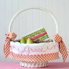 personalized basket personalized easter basket liner personalized basket liner pink