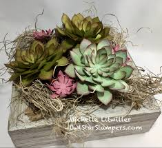 succulent home decor stampin u0027 up project video tutorial