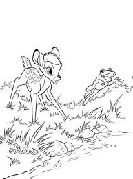 frog and bambi coloring pages cartoon coloring pages of