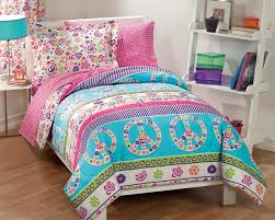 Minecraft Twin Comforter Retro Pink Blue Peace Sign U0026 Love Girls Bedding Twin Comforter Set