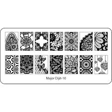 aliexpress com buy back plate nail art stamp stamping image