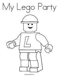 My Lego Party Coloring Page Twisty Noodle Coloring Pages Lego