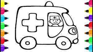 cartoon cars coloring pages ambulance car coloring pages how to draw ambulance car and
