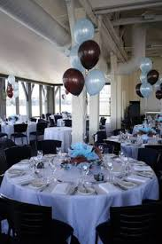 sports banquet centerpieces balloon designs fabric draping