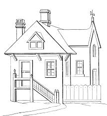 coloring page house house 60 buildings and architecture printable coloring pages