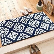 tapie de cuisine tapie de cuisine bleu brun foncac gris gacomactrie motif doux