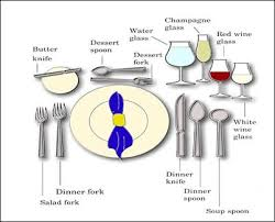 awesome dining place settings with fine dining proper table