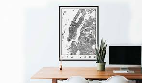 city art posters map posters and art prints gifts for city