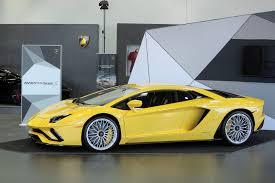 Yellow Lamborghini Aventador - stunning lamborghini aventador s doing its rounds of public debuts