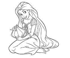perfect princess rapunzel coloring pages kids rapunzel
