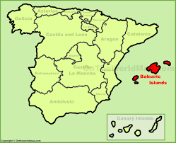 Canary Islands Map Balearic Islands Location On The Spain Map