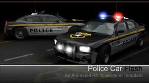 powerpoint themes free cars police cars flash a powerpoint template from presentermedia com