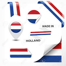 Hollanda Flag Made In Holland Collection Of Ribbon Label Stickers Pointer