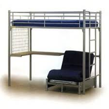 Metal Bunk Bed With Desk Foter - Metal bunk beds with futon