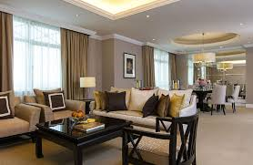 Living And Dining Room Two Bedroom Suite In Malaysia The Ritz Carlton Kuala Lumpur