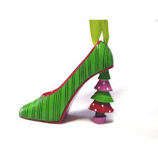 ornaments shoe ornaments set of zebra high