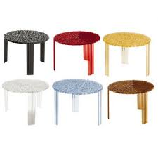 modern round end table t table table 310 kartell