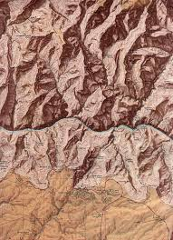 Grand Canyon National Park Map Grand Canyon National Park Shaded Relief Map Arizona United