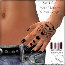 second life marketplace stellar skull hand tattoo u0026 nail