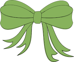 green gift bow ribbon bow gift free vector graphic on pixabay