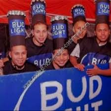 Bottle Halloween Costume Bud Light Group Diy Halloween Costume Funny Guy