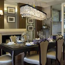 crystal chandelier dining room awesome amusing design