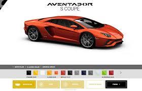 lamborghini aventador color options lamborghini launches aventador s coupe configurator with