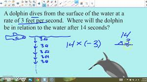 math 7 integer word problems youtube