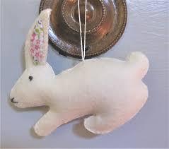 diy bunny ornament