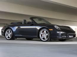 Porsche 911 Black - 2007 black porsche 911 carrera 4s cabriolet wallpapers