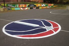 How To Build A Basketball Court In Backyard How To Paint A Basketball Court Kaboom