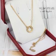 cartier love necklace images Cartier 2 diamonds love necklace replica b7219500 yellow gold jpg
